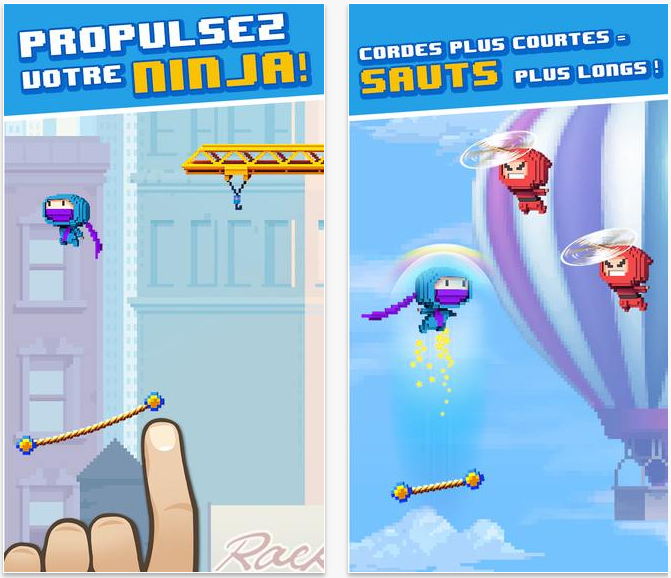 Ninja UP! : le Doodle Jump version 2014 de Gameloft