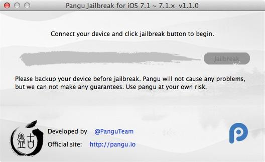 Jailbreak iOS 7.1.1 Untethered : Pangu 1.1 disponible sur Mac