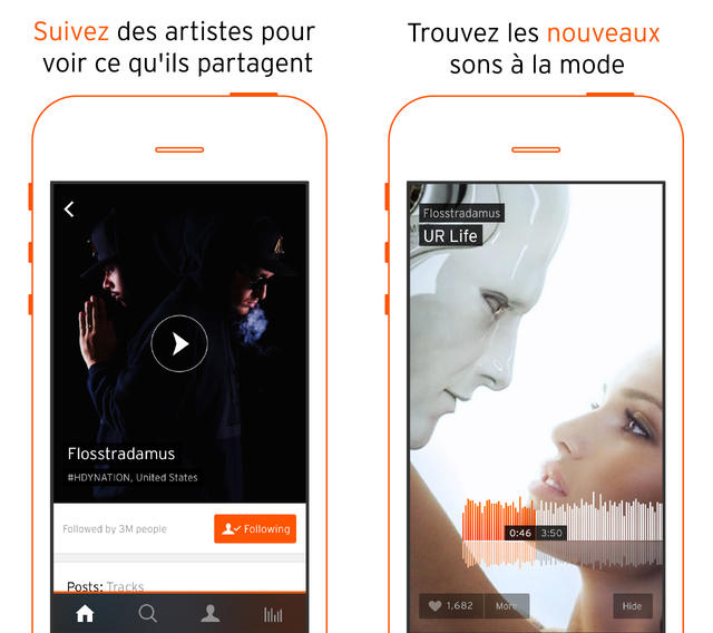 Soundcloud : nouveau design et interface repensée sur iPhone