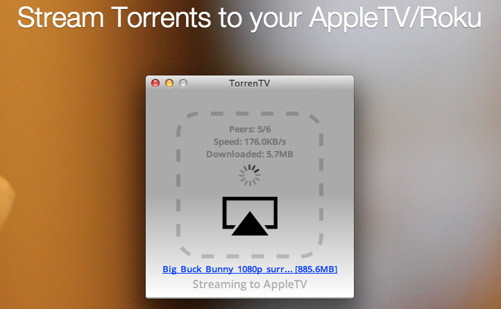 TorrenTV : le streaming de torrent sur l'Apple TV