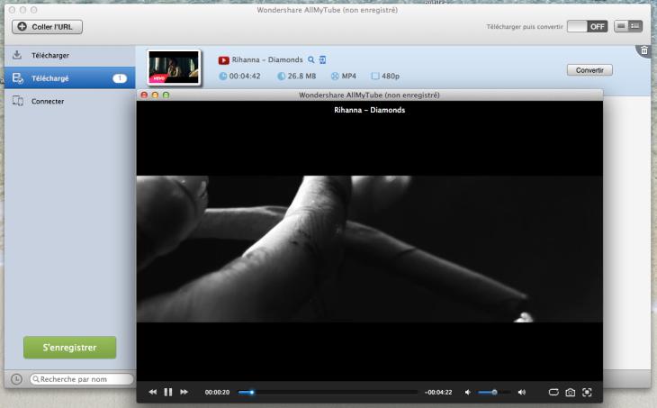 AllMyTube : télécharger et convertir les vidéos Youtube sur Mac & Windows