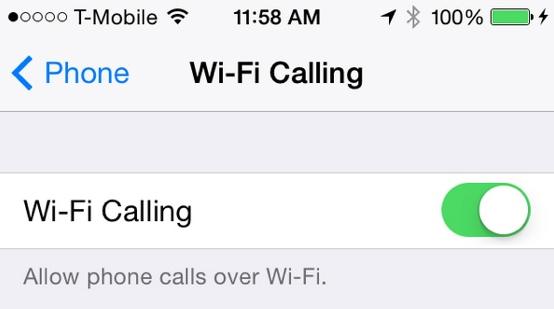 iOS 8 bêta 3 : activation des appels Wi-Fi