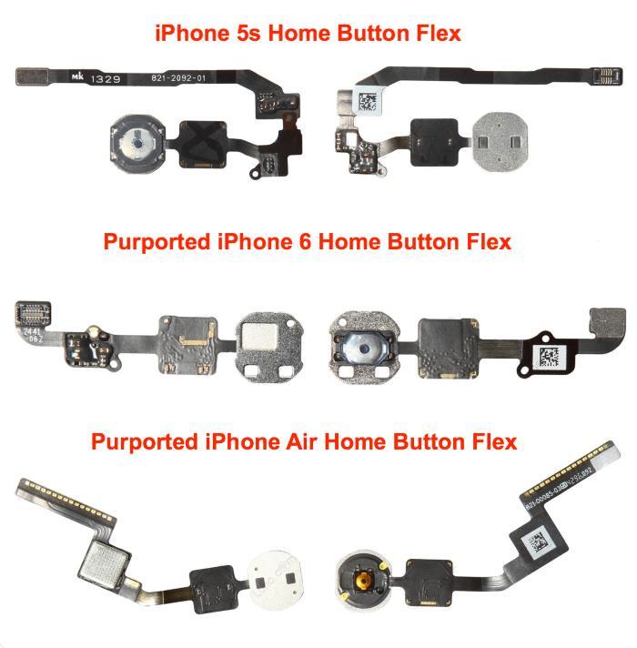 iPhone 6 : nouvelles photos des boutons d'accueil