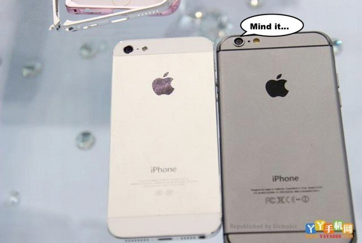 iPhone 6 : le modèle gris sidéral comparé à l'iPhone 5