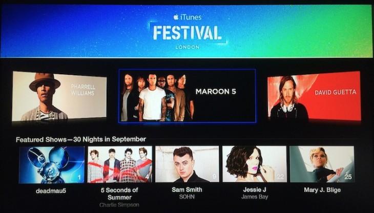 Apple TV : une nouvelle chaîne pour l'iTunes Festival 2014