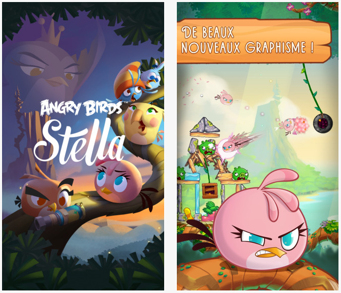 Angry Birds Stella enfin disponible sur iPhone & iPad
