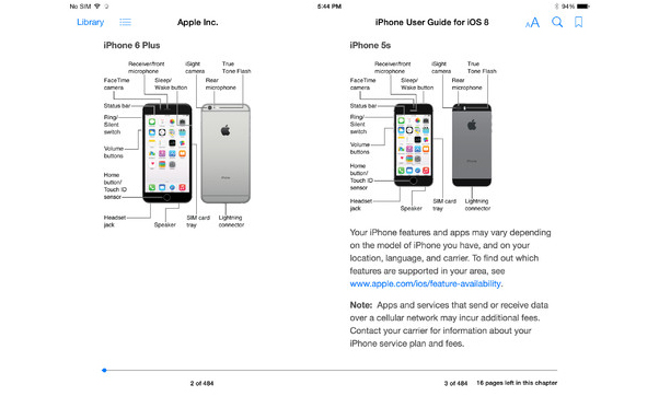 iOS 8 : le guide d'utilisation de l'iPhone disponible sur iBooks