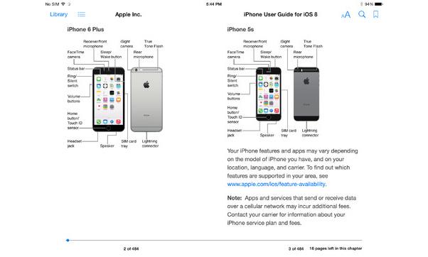 iOS 8 : le guide d'utilisation de l'iPhone disponible sur iBooks