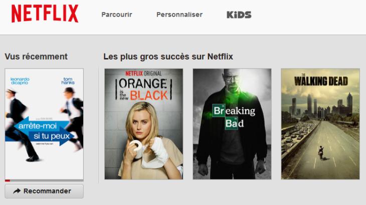 Netflix disponible sur iPhone, iPad, Apple TV, …
