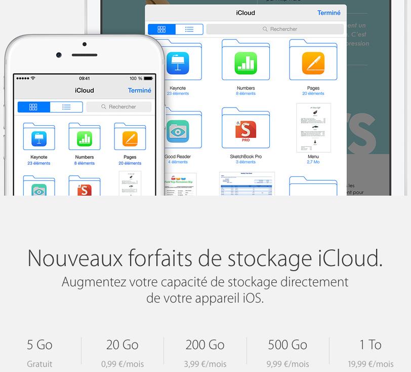 iCloud-prix