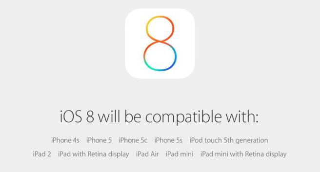 iOS-8-compatibilite