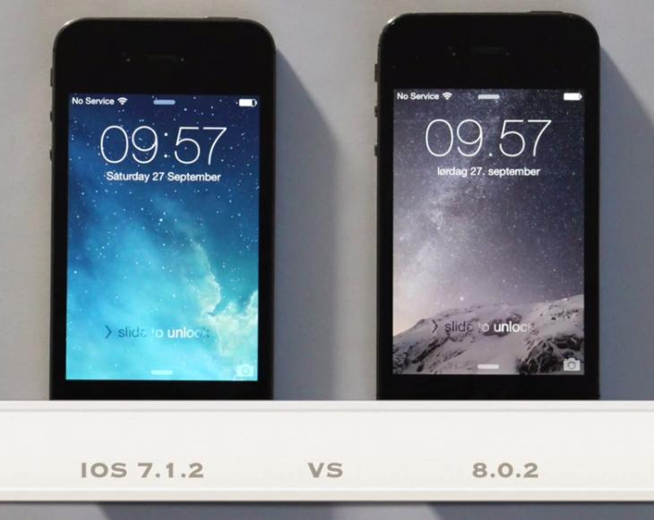 iPhone 4S : comparaison des performances sous iOS 7 et iOS 8