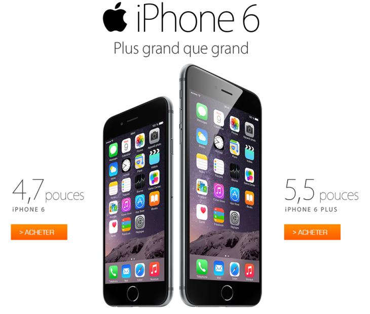Les iPhone 6 & iPhone 6 Plus sont en vente !