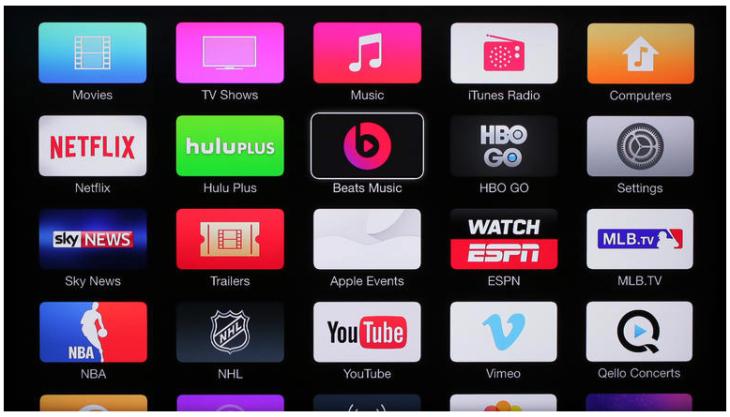 Apple TV : nouveau design, partage familial et application Beats Music