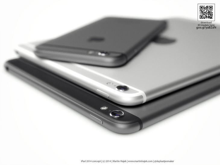 iPad Air 2 & iPad Mini 3 : concept avec un design iPhone 6