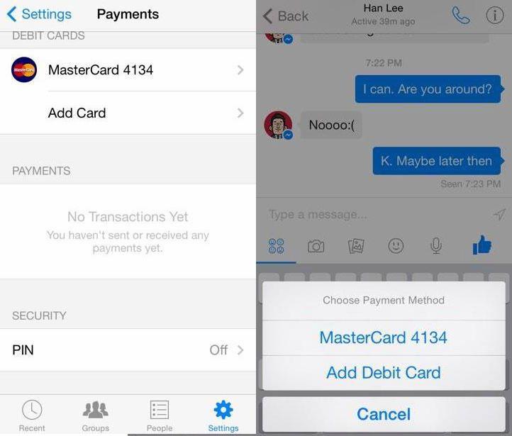 Facebook : vers un service de paiement via Messenger ?