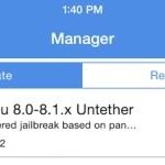 Jailbreak iOS 8 : première mise à jour de PanGu