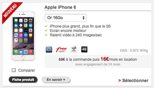 free mobile propose de louer l 39 iphone 6. Black Bedroom Furniture Sets. Home Design Ideas