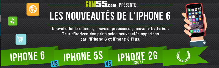 iPhone 6 vs iPhone 5S vs iPhone 2G : quelles différences ?