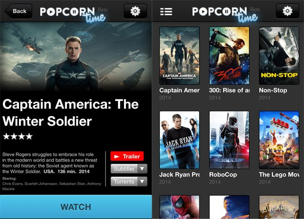 Popcorn Time : le streaming iPhone & iPad gratuit en HD