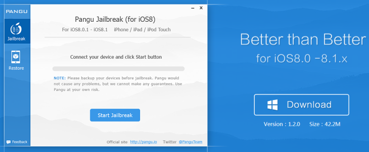 Jailbreak iOS 8 & iOS 8.1 : PanGu 1.2 est disponible (Windows)