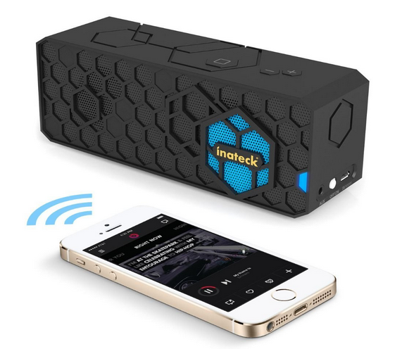 enceinte-bluetooth-portable-inateck-iphone
