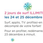 Bouygues Telecom : Internet illimité en 3G/4G offert à Noël