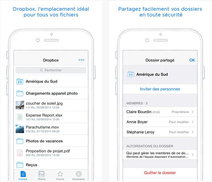Dropbox permet de renommer fichiers & dossiers