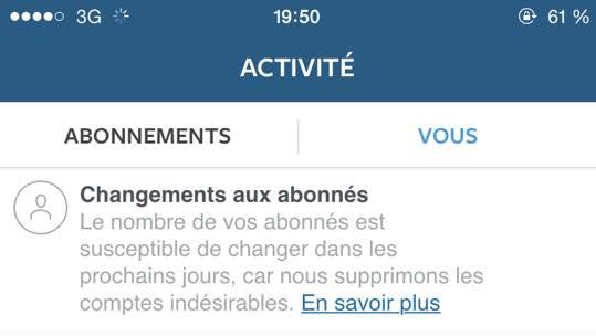 Instagram : des millions de faux comptes supprimés