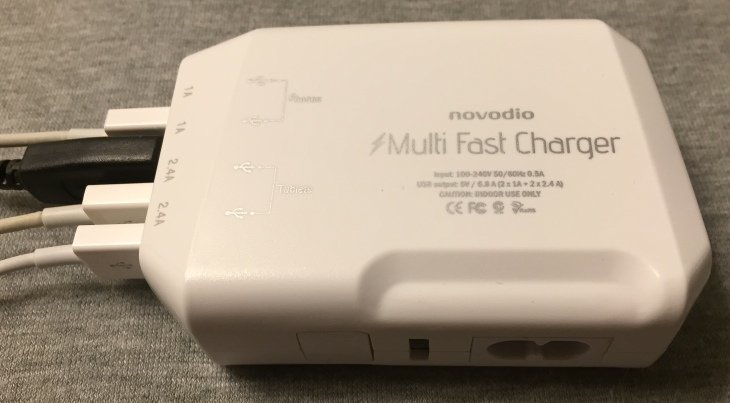 Test : Chargeur international 4 ports USB par Novodio