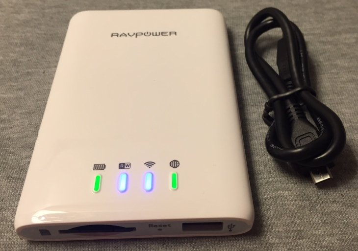 Test : RAVPower FileHub 5 en 1 (lecteur SD, DD, Hotspot WiFi , batterie, NAS)