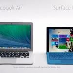 Microsoft : la publicité Surface Pro 3 vs MacBook Air en France
