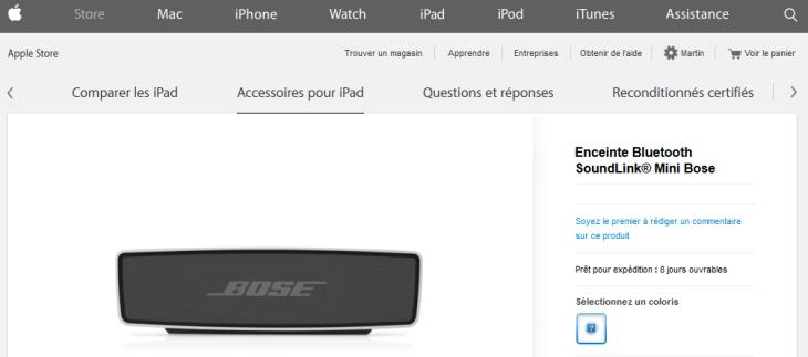 Apple Store : retour des produits Bose