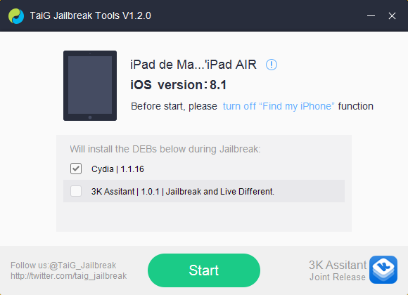Tutoriel : Jailbreak iOS 8.1.2 avec TaiG (Windows)