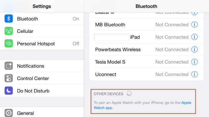 iOS 8.2 proposera une application destinée à l'Apple Watch