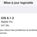 iOS 8.1.3 disponible sur iPhone, iPad & iPod Touch