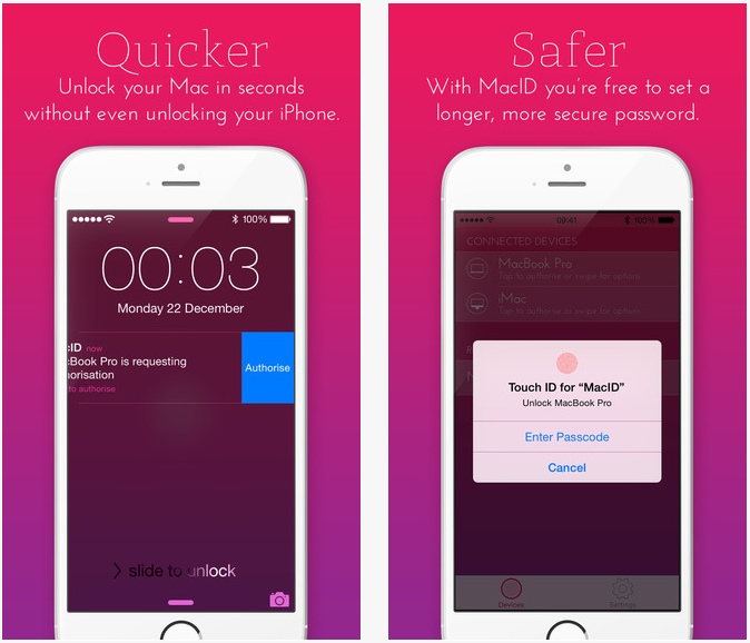 MacID : déverrouiller son Mac avec le Touch ID de l'iPhone