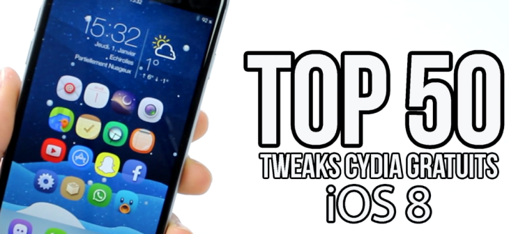 Top 50 des meilleurs Tweaks Cydia iOS 8 gratuits