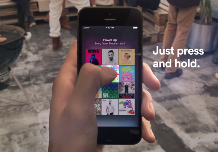 "Spotify ajoute la fonction ""Touch Preview"" sur iPhone & iPad"