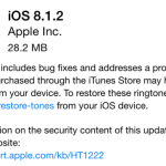 Apple ne signe plus iOS 8.1.2 : downgrade impossible