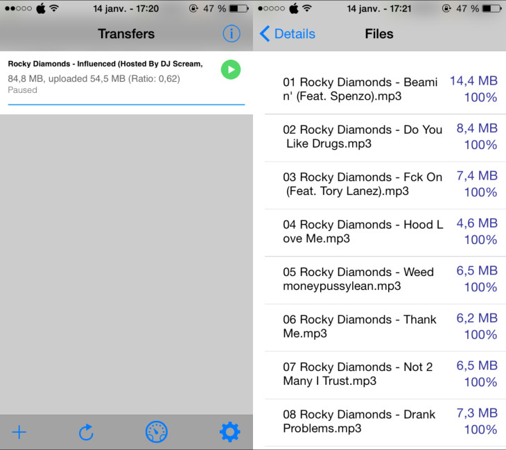 iTransmission : télécharger des torrents sur iPhone & iPad (iOS 8)