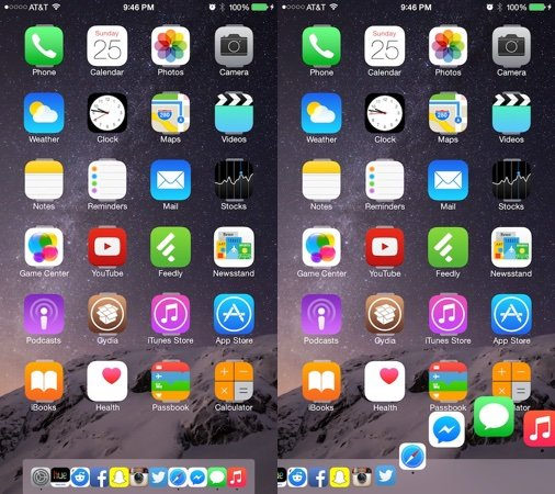 Cydia : Harbor apporte le dock Mac sur iPhone & iPad
