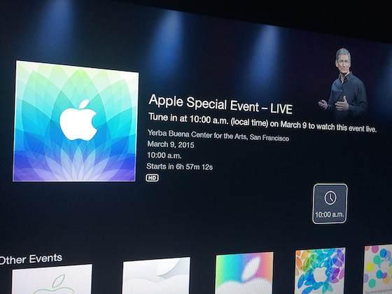 Keynote Apple Watch : une chaîne Apple TV pour la suivre en direct