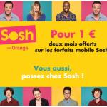 Code Promo Sosh : 2 mois de forfait pour 1€ seulement !