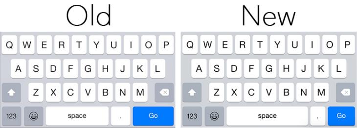 iOS 8.3 : un clavier amélioré par l'agrandissement de la touche espace