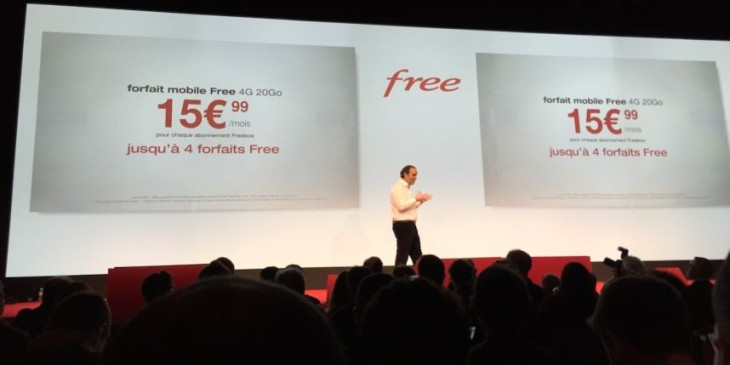 Free Mobile: désormais 4 forfaits à 15,99€ par abonnement Freebox