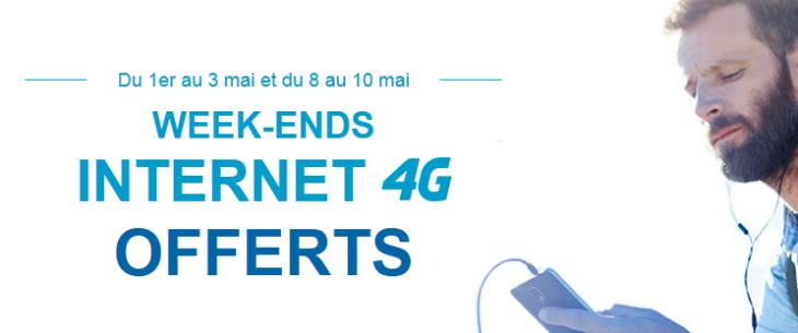 Bouygues Telecom offre Internet 4G en illimité les week-ends des 1er & 8 mai