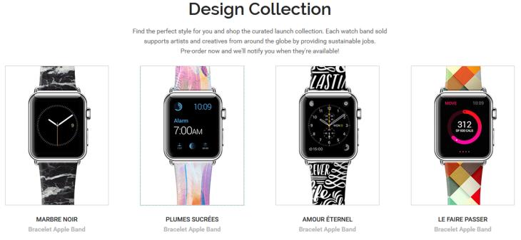 Apple Watch : une collection Design et des bracelets personnalisés chez Casetify