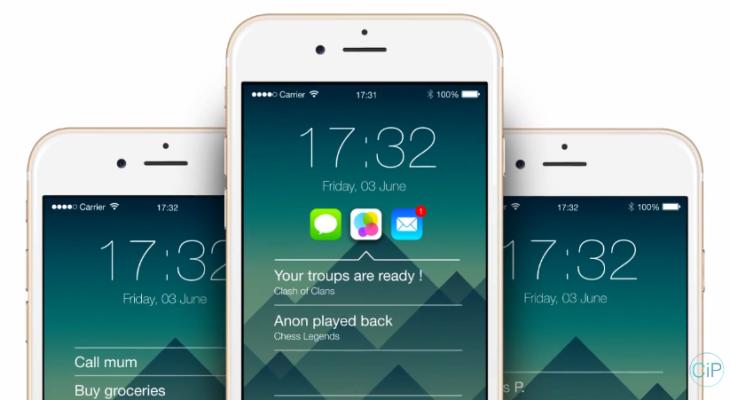 Concept iOS 9 : des accès rapides sur le lockscreen de l'iPhone