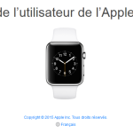 Le guide Apple Watch officiel est disponible en ligne
